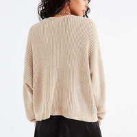 UO Oversized Chenille V-Neck Sweater   Urban Outfitters
