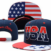 Vip2014 USA American Flag Snapback Cap Adjustable United States Baseball Cap Hat New Navy Blue, Adult