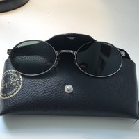 RAY-BAN Vintage/Retro Mens Designer Sunglasses Black Oval W2963