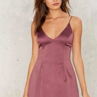 Satin a Good Way Mini Dress