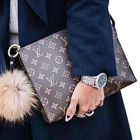 Louis Vuitton LV Hot Selling Casual Business Folder Bag Fashion Men's Briefcase Ladies Cosmetic Bag Clutch Bag