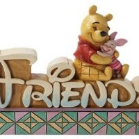 Enesco Disney Traditions by Jim Shore Pooh and Piglet Friends Figurine, 1.137-Inch