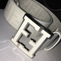 FENDI College Belt | White | 34-36 | NWT NEVER WORN.