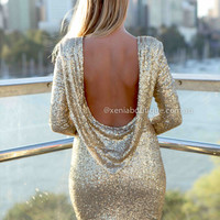 PRE ORDER - DATE NIGHT 2.0 DRESS (Expected Delivery 29th November, 2013) , DRESSES, TOPS, BOTTOMS, JACKETS & JUMPERS, ACCESSORIES, SALE, PRE ORDER, NEW ARRIVALS, PLAYSUIT, COLOUR,,Sequin,BACKLESS,Gold,BODYCON Australia, Queensland, Brisbane