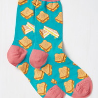 Cheese Louise Socks | Mod Retro Vintage Socks | ModCloth.com