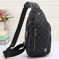 Louis Vuitton Women Leather Backpack Satchel Crossbody