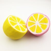 Jumbo Lemon Squishy 11cm Slow Rising Scented Soft PU Squishies Straps Charm Kawaii Pendant Bread Kids Gift Stress Relief Toy