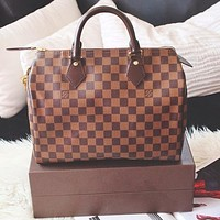 LV Louis Vuitton Fashion Women Shopping Handbag Leather Satchel Shoulder Bag Crossbody