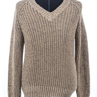 Beige Cable Knit Sweater size:M