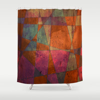 Baroque Cubism Shower Curtain by Tony Vazquez