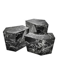 Black Marble Coffee Table Set | Eichholtz Prudential