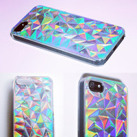 Reserved forJaewoo DO NOT BUY otherwise!!!! Iphone 5 / 5S Holographic Hologram Iridescent 3d Diamond Rainbow Opalescent Triangle Case Cover