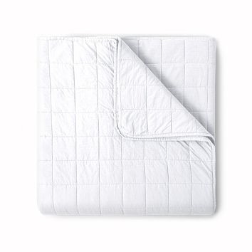 4 Square White Coverlet by Peacock Alley