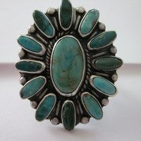 Lovely Native American Cluster Ring
