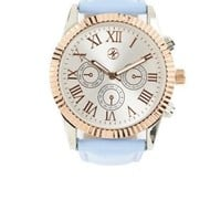 Blue Faux Leather Watch by Charlotte Russe