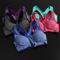 Zippers Vest Gym Yoga Underwear Sports Bra [6572473223]