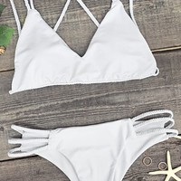 Cupshe Chic Lady Crochet Bikini Set
