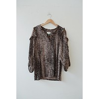 Maeve for Anthropologie Printed Blouse (XL)