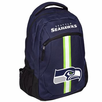 Seattle Seahawks Logo Action BackPack School Bag New Back pack Gym Travel Book