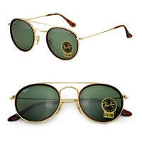 sunglasses Ray Ban Limited Double Bridge green classic round RB3647N 001