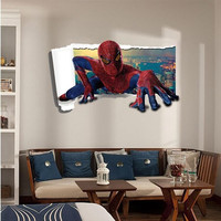 new 3D spider man wall stickers for children room cartoon wall stickers home decor bedroom living room boys wall stickers XL8121 SM6
