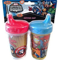 Marvel Super Hero Squad 10oz Sipper Sippy Cup - Package of 2