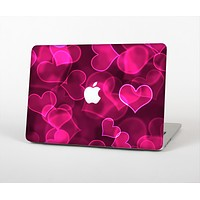 """The Glowing Pink Outlined Hearts Skin for the Apple MacBook Air 13"""""""