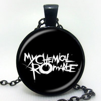 Hot Glass Picture Necklace Rock Band My Chemical Romance Necklace zinc alloy glass pendant art glass necklace vintage jewelry
