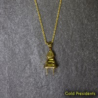 Gold Plug Pendant & Necklace