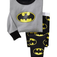 Kids Baby Boys Cotton Pajamas Childrens Batman Underwear Tracksuit Suit 1-7Y