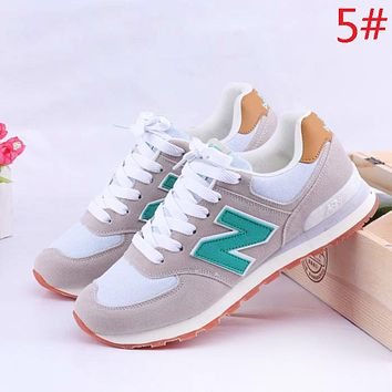 New Balance Fashion New Contrast Color Women Men Sports Leisure Running Shoes