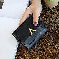 Women Purse Vintage Small Short Leather Wallet Luxury Mini Female Fashion Wallets And Purse Credit Card Holder Carteras