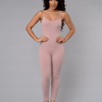 Little Miss Popular Jumpsuit - Rose