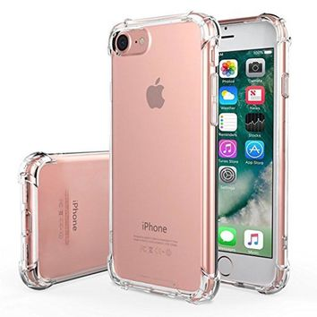 For iPhone 7 Cases Air Cushion Soft TPU Transparent All Round Protective Shockproof Bumper 4.7 Inch