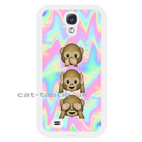 case,cover fits samsung models>Tie Dye,monkey, Emoji,emojis,bright,smiley faces