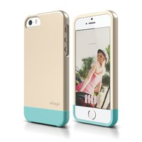 iPhone SE case, elago [Glide][Champagne Gold / Coral Blue] - [Mix and Match][Premium Armor][True Fit] - for iPhone SE/5/5S
