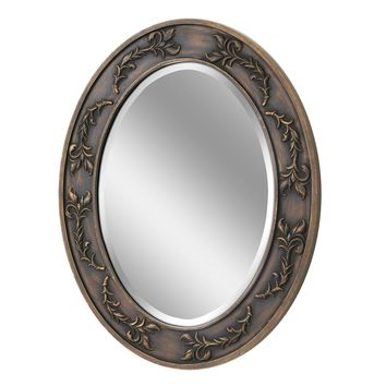 Classic Scroll Oval Antique Bronze Wall Mirror (1050) - Illuminada