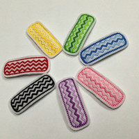 Chevron felt snap clips in your choice of colors. Red yellow green blue pink purple or black