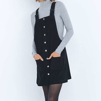 Urban Outfitters Button-Down Corduroy Pinafore Dress - Urban Outfitters
