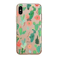 Watercolor Cactus - iPhone Clear Case
