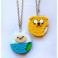 Super Cute Adventure Time Oreo Necklaces Friendship