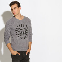 Men's Keith Haring Baby Sweatshirt (Heather Grey)