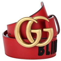 Gucci Women's Skinny Brown Leather Belt with Gold Horsebit Buckle 282349 BGH0G 2140