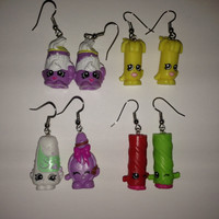 Shopkins Foodie Earrings - made from re-purposed toys