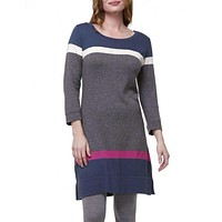 Charcoal Turkish Sweater Knit Dress by Haltey