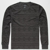 Shouthouse Shaka Mens Thermal Charcoal  In Sizes