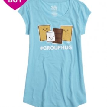 SMORES GRAPHIC LONG TEE   GIRLS GRAPHIC TEES CLOTHES   SHOP JUSTICE