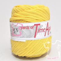 Canary Yellow t-shirt yarn 42.5 yards upcycle recycle craft crochet knitting supply zpagetti yarn