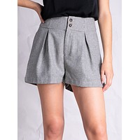 High Rise Tweed Shorts (ONLY SMALL LEFT)