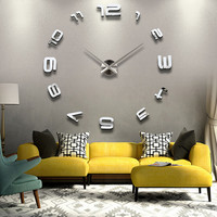 3D DIY Number Home Decoration Wall Clock Vintage Brief Design Decorative art wall watches creative carft house decor accessories